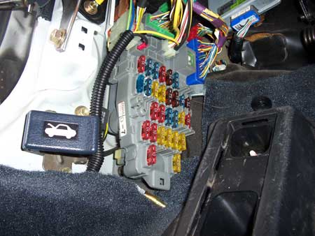 fusebox_finished stealth car alarm install 2nd generation acura integra da 93 Acura Integra Fuse Box at panicattacktreatment.co